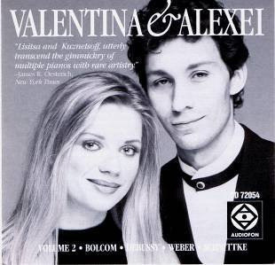 Valentina Lisitsa and Alexei Kuznetsoff, duo-Pianists (Volume 2) play Bolcom: Recuerdos / Debussy: En Blanc et Noir / Weber-Godowsky: Invitation to the Dance / Schnittke: Gogol Suite